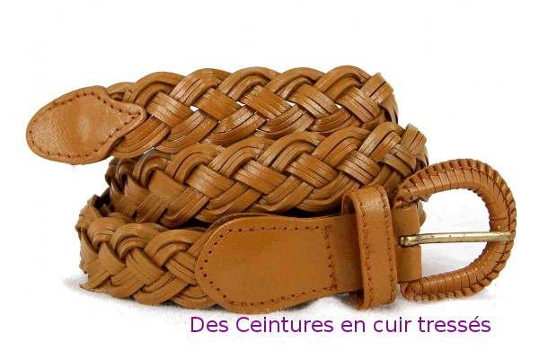 Des ceintures en cuir tressé