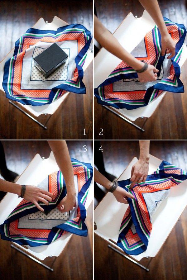 Amballer son cadeau dans un tissu